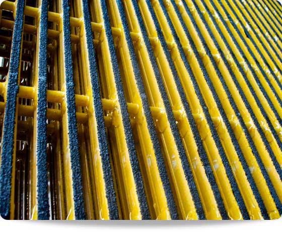rejilla fibra de vidrio pultruida